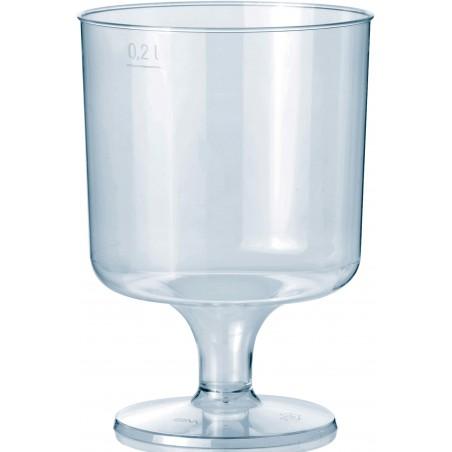 Calice con Gambo di Plastica 200 ml (10 Pezzi)