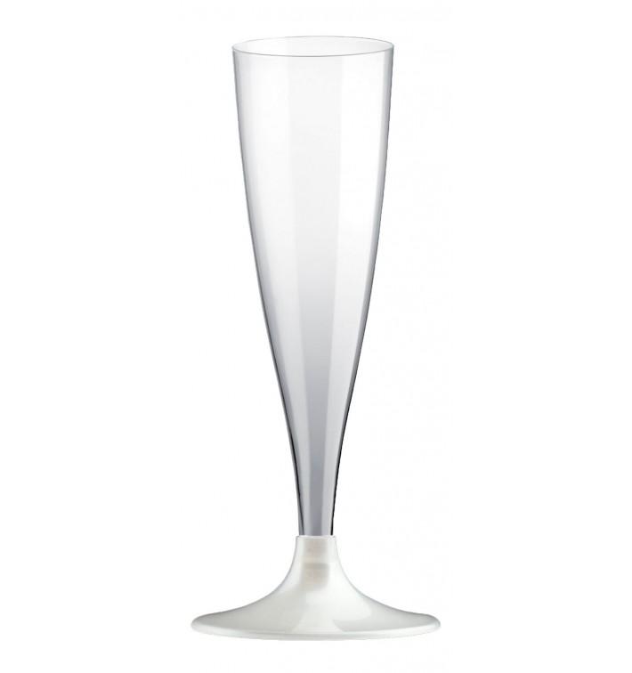 Flute Plastica Gambo Bianco Perlato 140ml 2P (20 Pezzi)