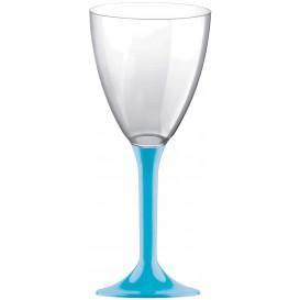 Calice Plastica per Vino Gambo Turchese 180ml (200 Pezzi)