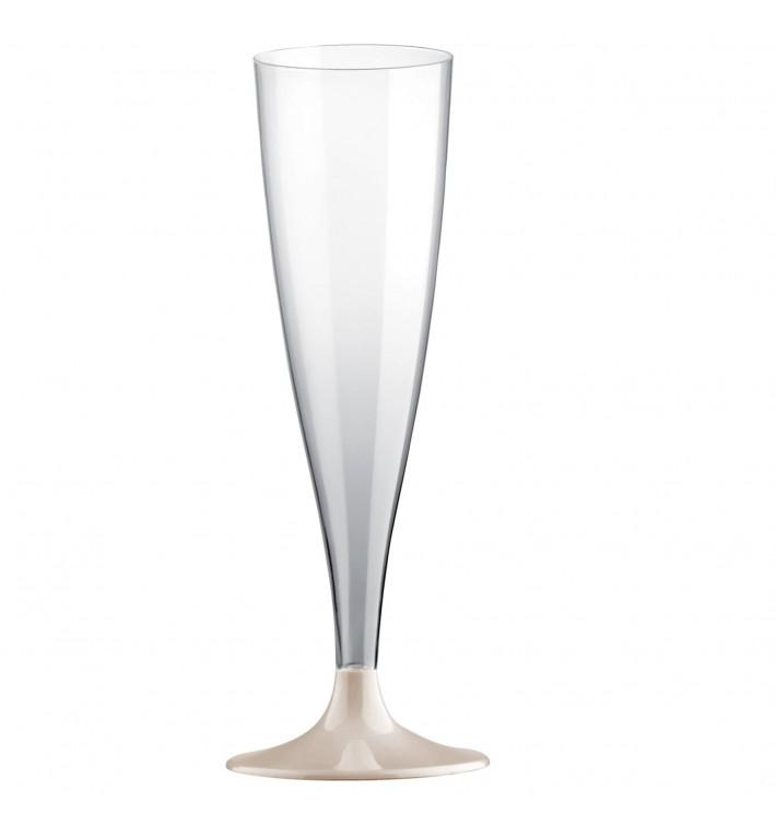 Flute Plastica Gambo Crema 140ml 2P (400 Pezzi)