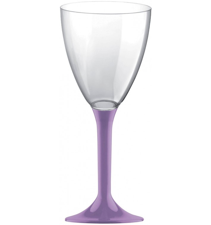 Calice Plastica Vino Gambo Lilla 180ml 2P (20 Pezzi)