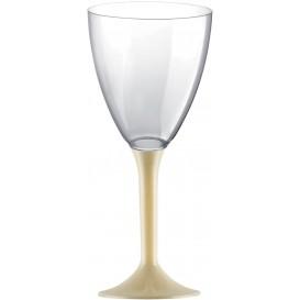 Calice Plastica Vino Gambo Crema 180ml 2P (200 Pezzi)