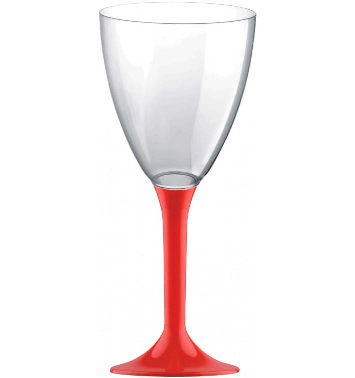 Calice Plastica Vino Gambo Red 180ml 2P (20 Pezzi)