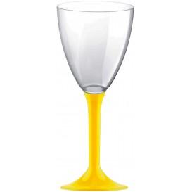 Calice Plastica Vino Gambo Giallo 180ml 2P (20 Pezzi)