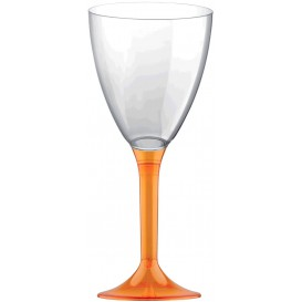 Calice Plastica Vino Gambo Arancione Transp. 180ml 2P (20 Pezzi)
