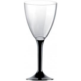 Calice Plastica Vino Gambo Nero 180ml 2P (20 Pezzi)
