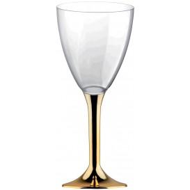 Calice Plastica Vino Gambo Oro Cromato 180ml 2P (200 Pezzi)