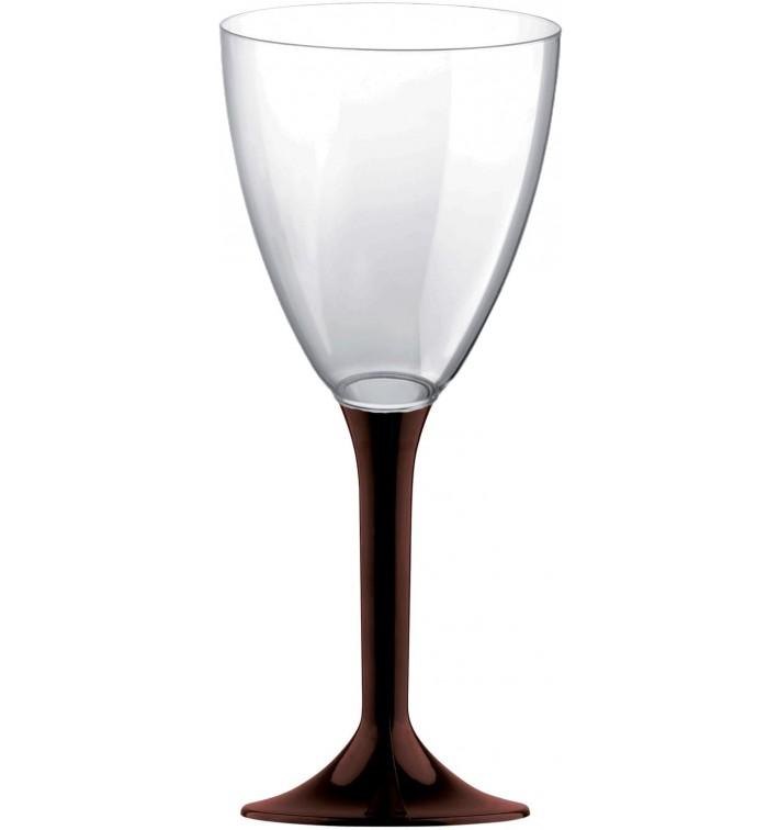 Calice Plastica Vino Gambo Marrone 180ml 2P (20 Pezzi)
