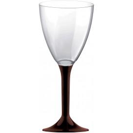 Calice Plastica Vino Gambo Marrone 180ml 2P (200 Pezzi)
