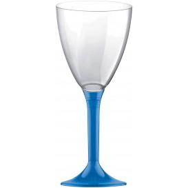 Calice Plastica Vino Gambo Blu Transp. 180ml 2P (20 Pezzi)