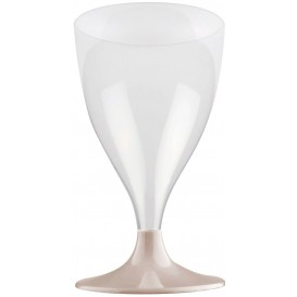 Calice Plastica Vino Gambo Beige 200ml 2P (400 Pezzi)