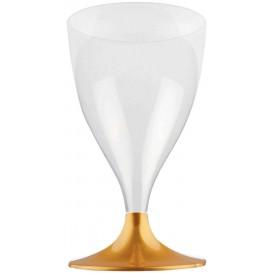 Calice Plastica per Vino Gambo Oro 200ml (200 Pezzi)
