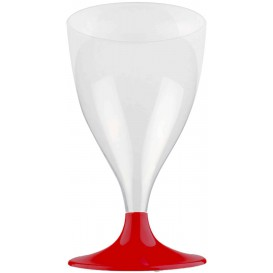 Calice Plastica per Vino Gambo Bordò 200ml (200 Pezzi)