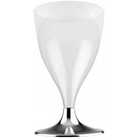 Calice Plastica per Vino Gambo Nikel Cromato 200ml 2P (400 Pezzi)