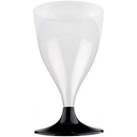 Calice Plastica per Vino Gambo Nero 200ml (20 Pezzi)