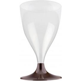 Calice Plastica per Vino Gambo Marrone 200ml (200 Pezzi)