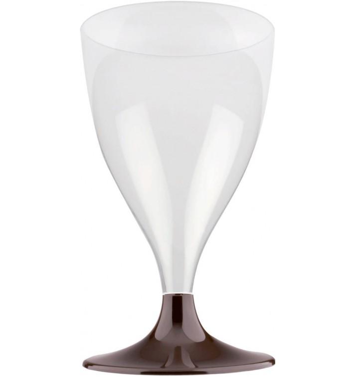Calice Plastica Vino Gambo Marrone 200ml 2P (400 Pezzi)