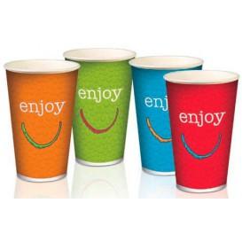 "Bicchiere di Carta 12 Oz/360 ml ""Enjoy"" Ø8,0cm (100 Pezzi)"