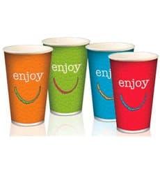 "Bicchiere di Carta 16 Oz/500 ml ""Enjoy"" Ø9,0cm (1000 Pezzi)"