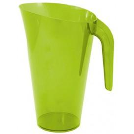 Brocca Plastica Verde Riutilizzabile 1.500 ml (20 Pezzi)
