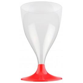 Calice Plastica Vino Gambo Red Transp. 200ml 2P (400 Pezzi)