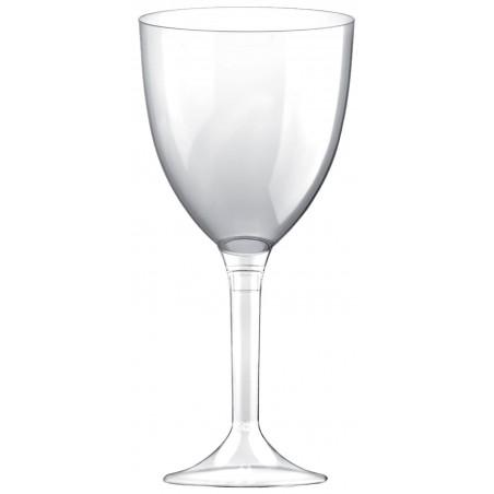 Calice Plastica per Vino Gambo Transparente 300ml (20 Pezzi)