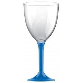 Calice Plastica Vino Gambo Blu Transp. 300ml 2P (20 Pezzi)