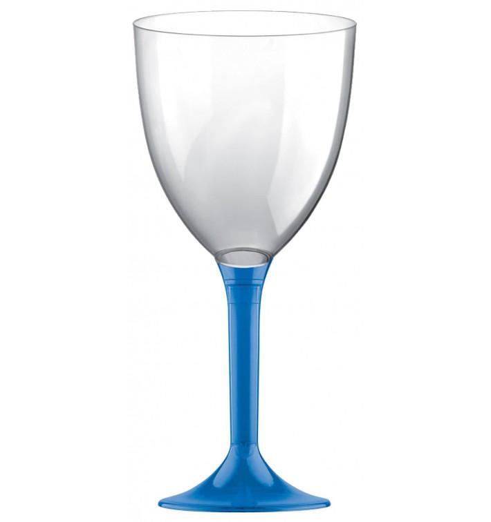 Calice Plastica Vino Gambo Blu Transp. 300ml 2P (200 Pezzi)
