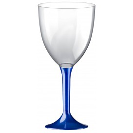 Calice Plastica Vino Gambo Blu Perlato 300ml 2P (20 Pezzi)