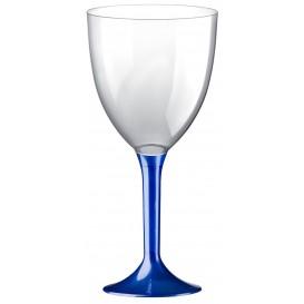 Calice Plastica Vino Gambo Blu Perlato 300ml 2P (200 Pezzi)