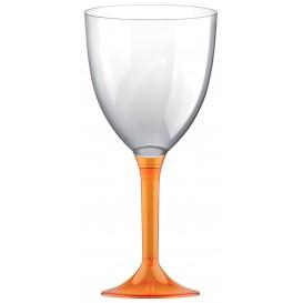 Calice Plastica per Vino Gambo Arancio Transp. 300ml (20 Pezzi)
