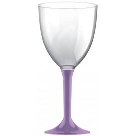 Calice Plastica per Vino Gambo Lilla 300ml (20 Pezzi)
