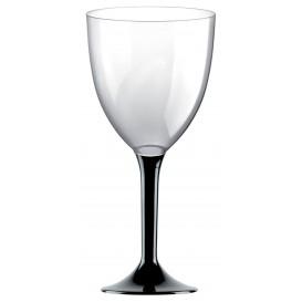 Calice Plastica per Vino Gambo Nero 300ml (20 Pezzi)