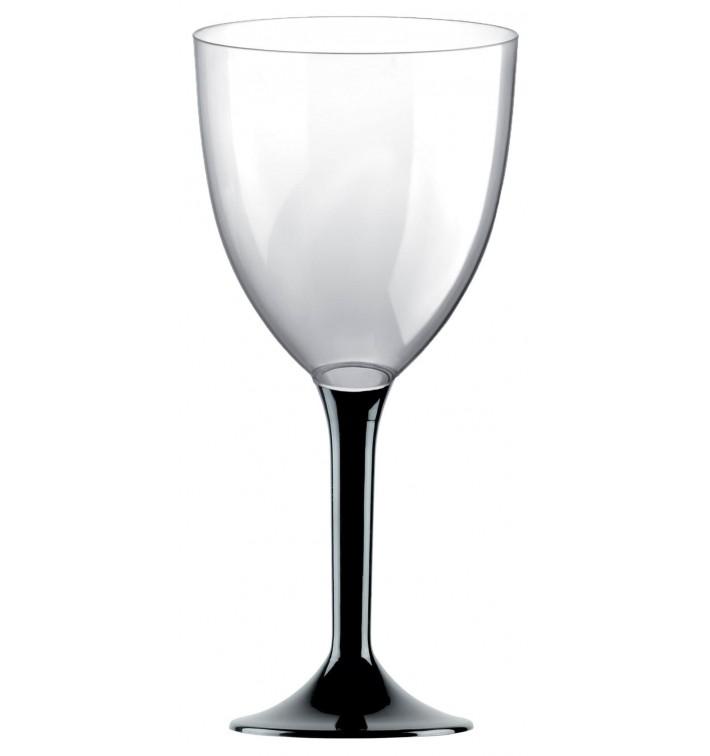 Calice Plastica Vino Gambo Nero 300ml 2P (200 Pezzi)