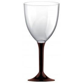 Calice Plastica Vino Gambo Marrone 300ml 2P (20 Pezzi)