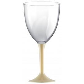 Calice Plastica per Vino Gambo Crema 300ml (20 Pezzi)