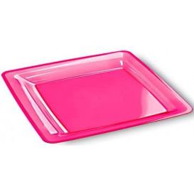 Piatto Plastica Rigida Quadrato 22,5x22,5cm (6 Pezzi)