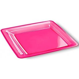 Piatto Plastica Rigida Quadrato 22,5x22,5cm (72 Pezzi)