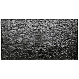 Vassoi di Plastica Ardesia PS 300x158 mm (100 Pezzi)