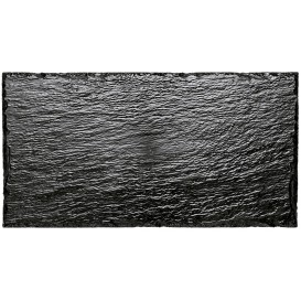 Vassoi di Plastica Ardesia PS 300x158 mm (10 Pezzi)