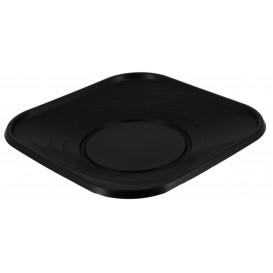 """Piatto di Plastica PP """"X-Table"""" Piazza Piano Nero 180mm (8 Pezzi)"""
