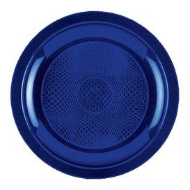 Piatto Plastica Piano Blu Round PP Ø185mm (50 Pezzi)