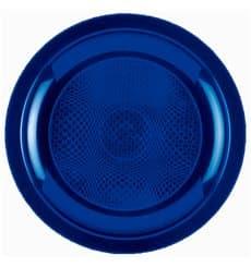 Piatto Plastica Piano Blu Round PP Ø185mm (600 Pezzi)