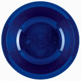 Piatto di Plastica Fondo Blu Round PP Ø195mm (50 Pezzi)