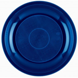 Piatto Plastica Piano Blu Round PP Ø220mm (600 Pezzi)
