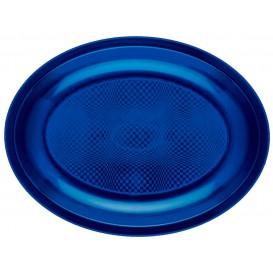 Vassoio Plastica Ovale Blu Round PP 255x190mm (600 Pezzi)