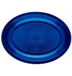 Vassoio Plastica Ovale Blu Round PP 255x190mm (300 Pezzi)