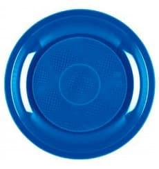 Piatto Plastica Dessert Blu Mediterranean Round PP Ø185mm (50 Pezzi)