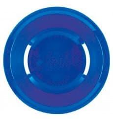 Piatto di Plastica Fondo Blu Mediterranean Round PP Ø195mm (50 Pezzi)