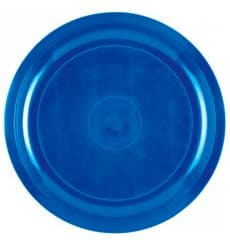 Piatto di Plastica Blu Mediterraneo Round PP Ø290mm (300 Pezzi)